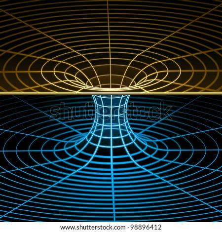 Geometry, Mathematics and Physics Wireframe Symbol. Rasterized Version - stock photo