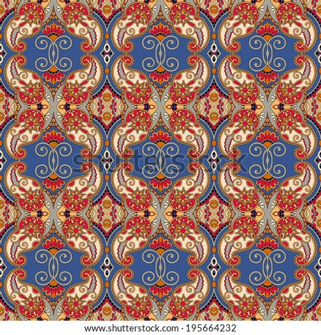 geometry vintage floral seamless pattern, ethnic style, you can use for packaging, textile design or scrapbooking, raster version - stock photo