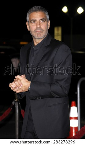 George Clooney at the Los Angeles premiere of 'Up In The Air' held at the Mann Village Theatre in Westwood on November 30, 2009.