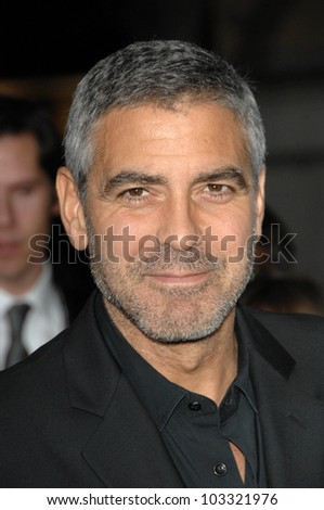 "George Clooney at the  ""Up In The Air"" Los Angeles Premiere, Mann Village Theatre, Westwood, CA. 11-30-09 - stock photo"