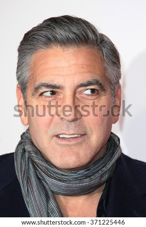 George Clooney attends 'the monuments men' UK film premiere held at Odeon cinema in Leicester square in London UK on 11 February 2014