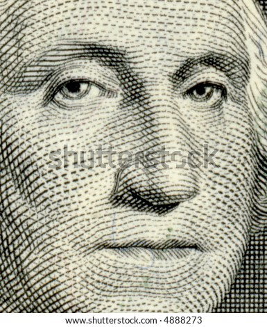 George Washington from US one dollar bill - stock photo