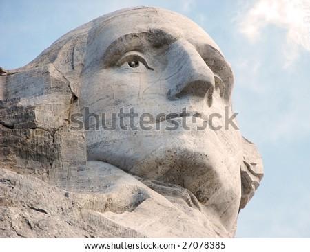 George Washington on Rushmore - stock photo