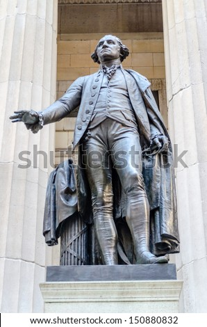 George Washington Statue, Federal Hall, New York City - stock photo