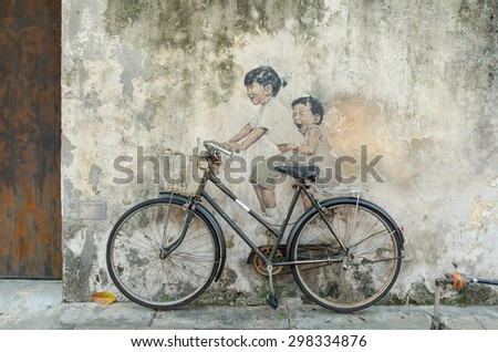 Woman On Bicycle Pulling Grown Man Stock Photo 91973393 Shutterstock