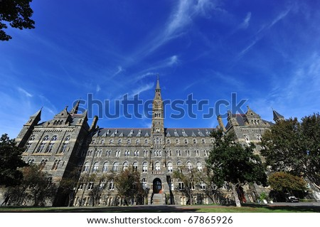 Georgetown university - stock photo