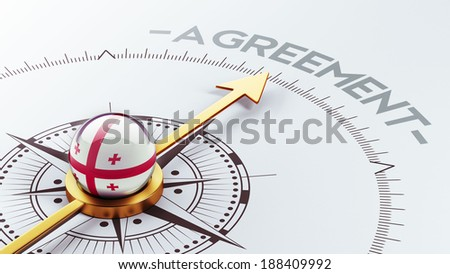 Georgia High Resolution Agreement Concept - stock photo
