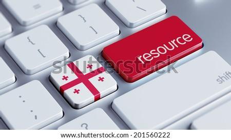 Georgia High Resolution Resource Concept - stock photo