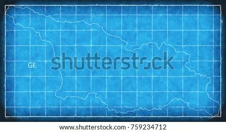 Us virgin islands map blue print stock illustration 761542909 georgia map blue print artwork illustration silhouette malvernweather Images
