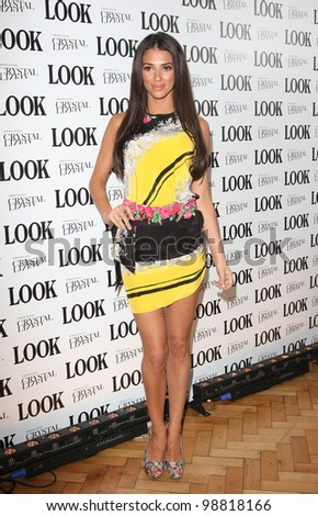 Georgia Salpa arriving for the Look magazine in association with Swarovski Crystallised 5th Birthday party, London. 01/03/2012 Picture by: Henry Harris / Featureflash