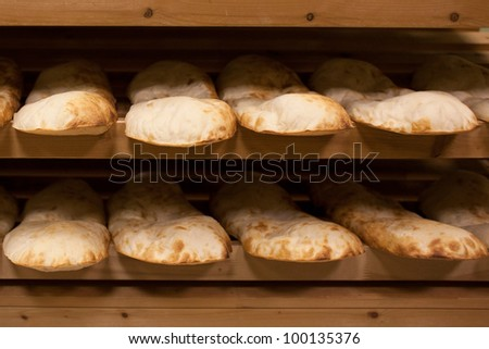 georgian bread - lavash - stock photo