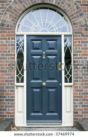 Georgian Door - stock photo
