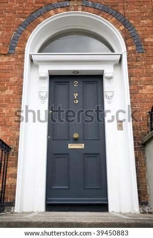 Georgian Door, Dublin - stock photo