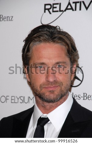 "Gerard Butler at the 2011 Art Of Elysium ""Heaven"" Gala, Annenberg Bldg., California Science Center, Los Angeles, CA. 01-15-11 - stock photo"