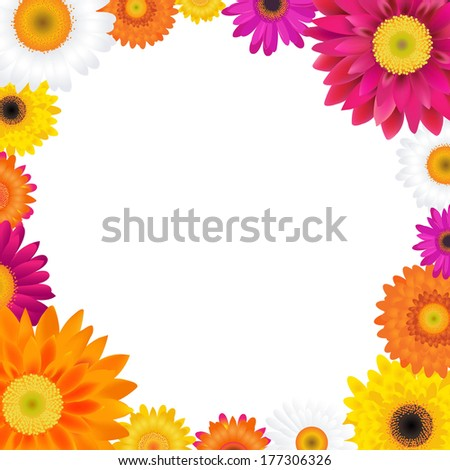 Gerbers Frame - stock photo