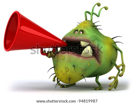 Germ monster - stock photo