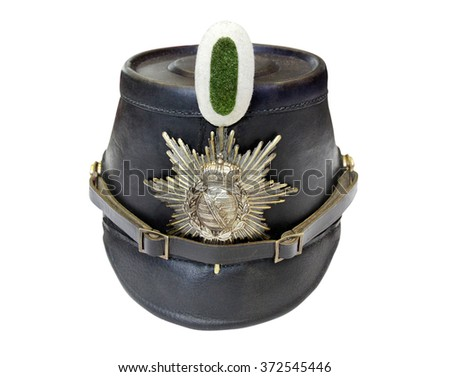 German army leather hat, first in Prussia, after the first world war was worn by policemen in the Weimar Republic and the 3rd Reich.