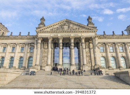 German Bundestag National Parliament in Berlin  - BERLIN; GERMANY NOVEMBER 17; 2015
