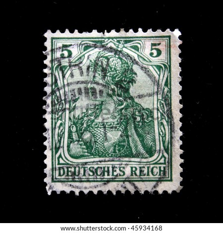 GERMAN EMPIRE - CIRCA 1901-1919: A stamp printed in the German Empire shows image of Valkyrie, series, circa 1901-1919