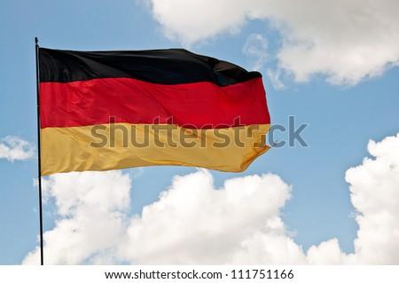 german flag - stock photo