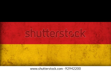 German flag background - stock photo