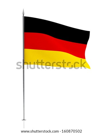 German Flag Isolated on white