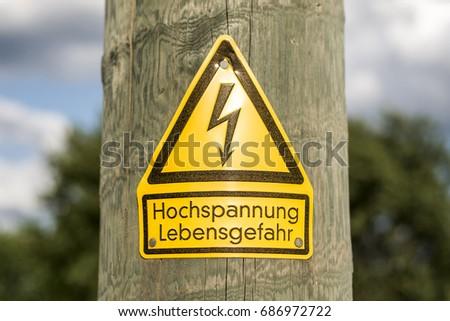 School Safety Zone Roadside Warning Sign Stock Photo