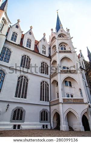 German old castle in Meissen, Saxony, Germany - stock photo