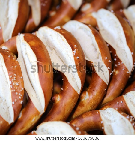 German Pretzel - stock photo