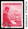 GERMAN REICH - CIRCA 1939: A stamp printed in Germany shows image of Adolf Hitler, circa, 1939 - stock photo