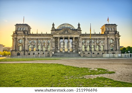 German Reichstag building during the sunrise - Berlin, Germany