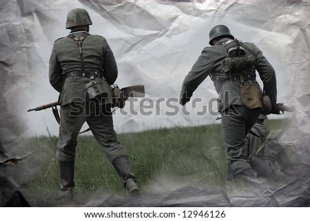 German soldiers. WW2 reenacting