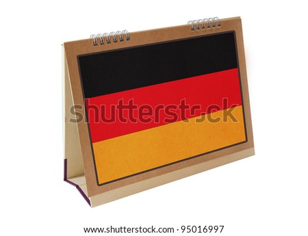 German table flag isolated - stock photo