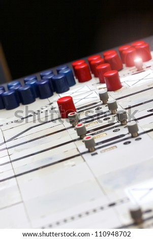 german train station control table light - stock photo