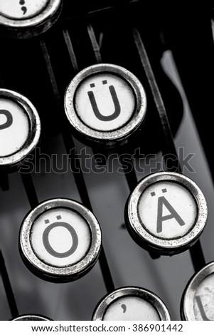 german umlauts - stock photo