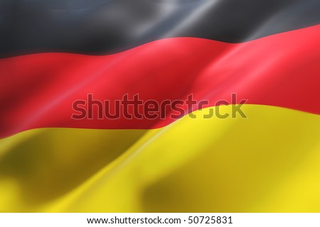 German waving flag (3d illustration)