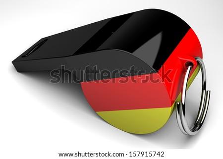 German whistle - stock photo