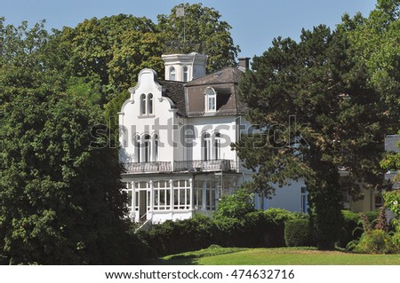 GERMANY-AUG 26:view of the villa on the Rhine river on August 26,2016 in Germany.