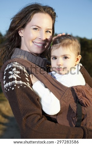 Germany,Bavaria,Mother and daughter smiling,portrait