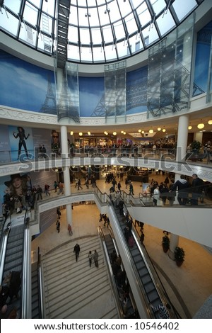 Germany biggest downtown shopping centre, limbecker platz, opened on 13 march 2008- only for editorial use! - stock photo