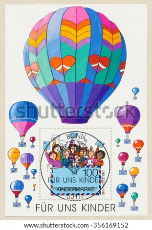 GERMANY - CIRCA 1997: A first day of issue postmark printed in Bonn, shows 