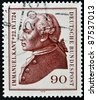 GERMANY- CIRCA 1974: A stamp printed by Germany, shows portrait Immanuel Kant, circa 1974. - stock photo