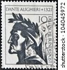 GERMANY - CIRCA 1971: A stamp printed in Germany showing Dante Alighieri, circa 1971 - stock photo