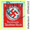 GERMANY - CIRCA 1937: A stamp printed in Germany showing swastika , circa 1937 - stock photo
