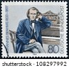 GERMANY - CIRCA 1983: A stamp printed in  Germany shows Johannes Brahms, Composer, circa 1983 - stock photo