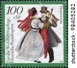 GERMANY - CIRCA 1994: A stamp printed in Germany, shows the Traditional Costumes, Hoyerswerda, Saxony, circa 1994 - stock photo