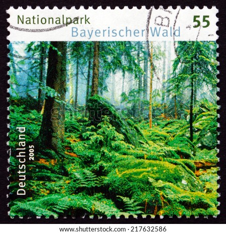 GERMANY - CIRCA 2005: a stamp printed in the Germany shows Bavarian Forest National Park, circa 2005 - stock photo