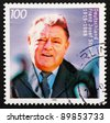 GERMANY - CIRCA 1995: a stamp printed in the Germany shows Franz Josef Strauss, Politician, circa 1995 - stock photo