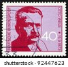 GERMANY - CIRCA 1973: a stamp printed in the Germany shows Otto Wels, Leader of German Social Democratic Party, circa 1973 - stock photo