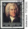 GERMANY - CIRCA 1985: A Stamp printed in the GERMANY shows portrait of the composer Johann Sebastian Bach, circa 1985 - stock photo